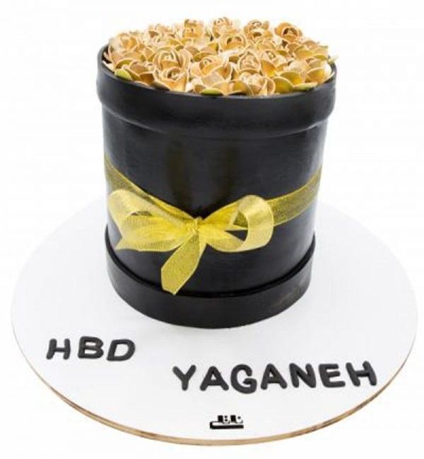 کیک تولد دخترانه رز طلایی 2 |