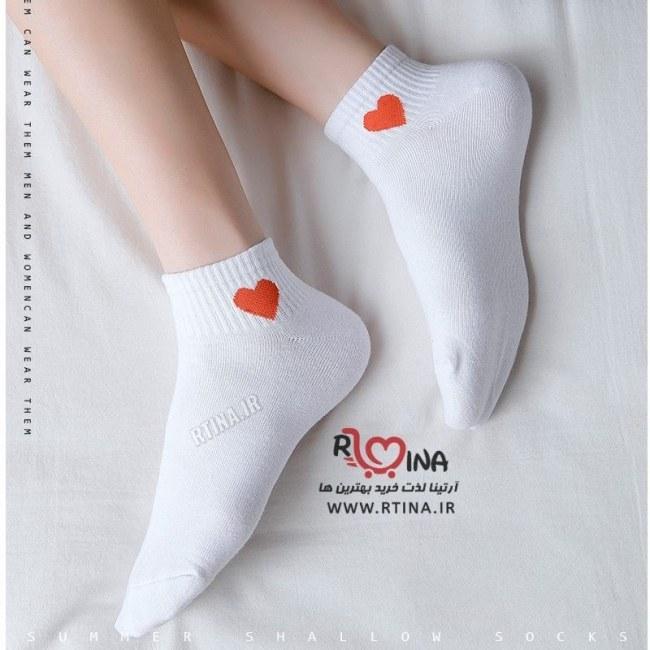 عکس جوراب اسپرت زنانه ساده طرح بغل قلب  جوراب-اسپرت-زنانه-ساده-طرح-بغل-قلب