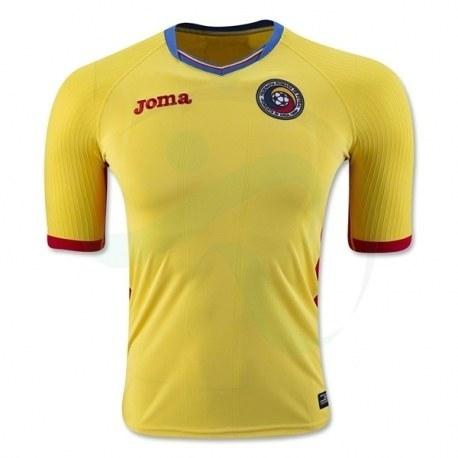 پیراهن اول تیم ملی رومانی ویژه یورو Romania Euro 2016 Home Soccer Jersey