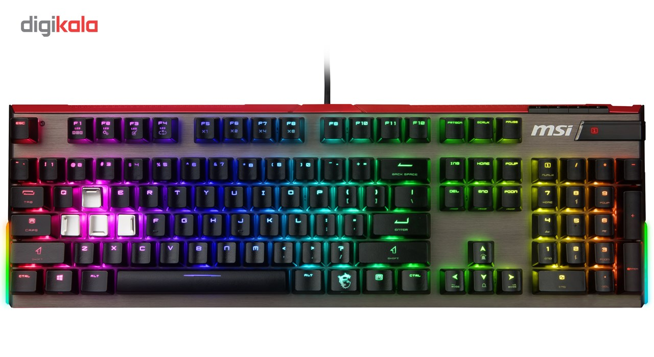 تصویر کیبورد گیمینگ ام اس آی مدل VIGOR GK80 RED کیبورد ام اس آی VIGOR GK80 RED Gaming Keyboard