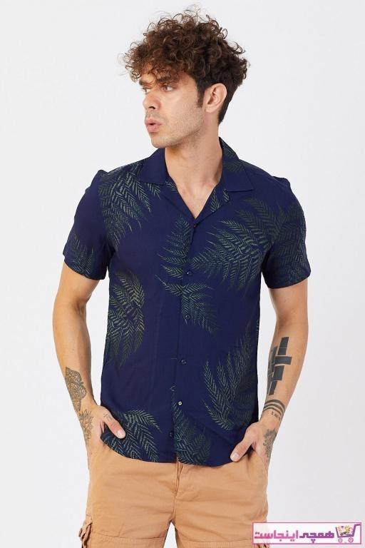 تصویر پیراهن اسپرت طرح دار برند TREND&YOU رنگ لاجوردی کد ty43301936