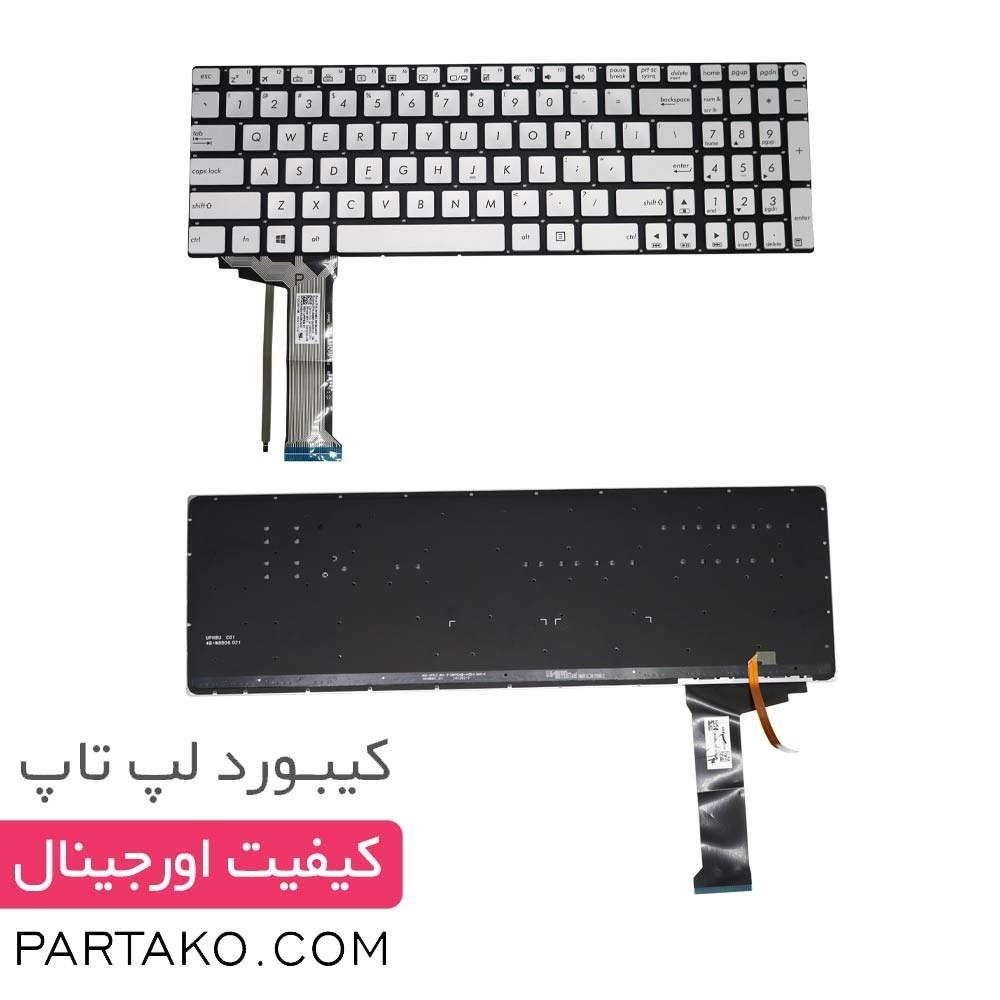 تصویر کیبورد لپ تاپ ایسوس N552 Keyboard Asus