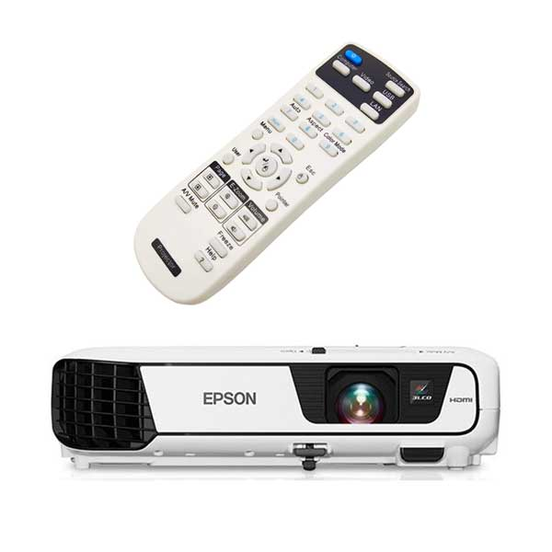 تصویر کنترل ویدئو پروژکتور اپسون مدل Epson EB-X36