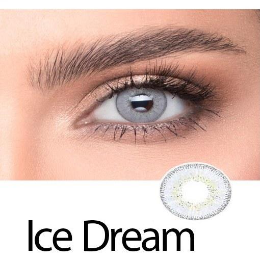تصویر لنز رنگی چشم یخی روشن لاکی لوک مدل Ice Dream