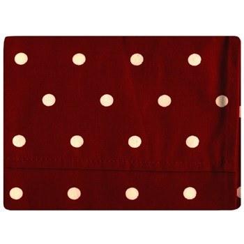 دستمال سفره کتان 36 × 36 رزين تاژ طرح خالدار قرمز | Rezin Taj 36 x 36 Red Dotted Denim Napkin