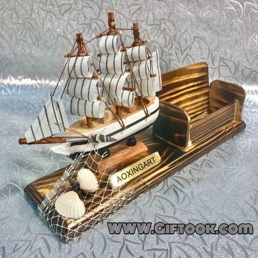 main images کشتی دکوری چوبی همراه با جاکارتی