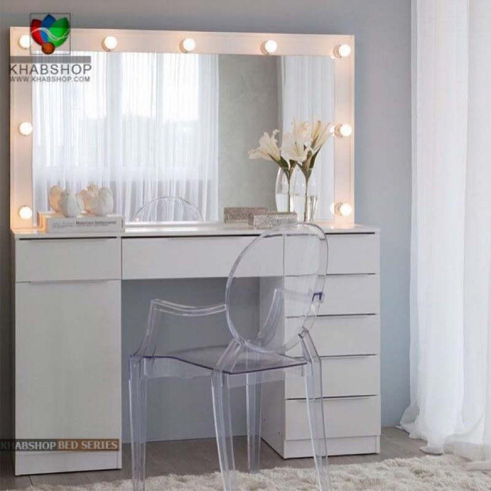 ست میز آرایش و آینه چراغ دار 8  