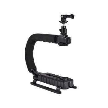 دسته لرزشگیر فیلم برداری مدل C-Shape مناسب برای دوربین ورزشی گوپرو و دوربین عکاسی |