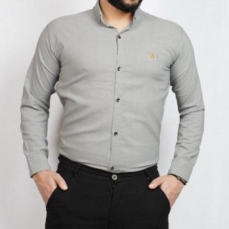 پیراهن مردانه طوسی R