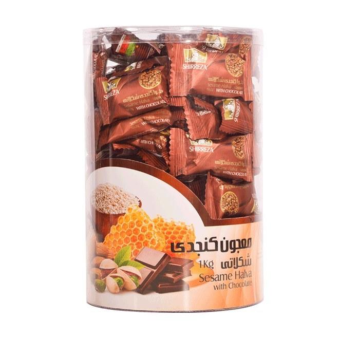 تصویر حلوا کنجدی شکلاتی شیررضا یک کیلوگرمی