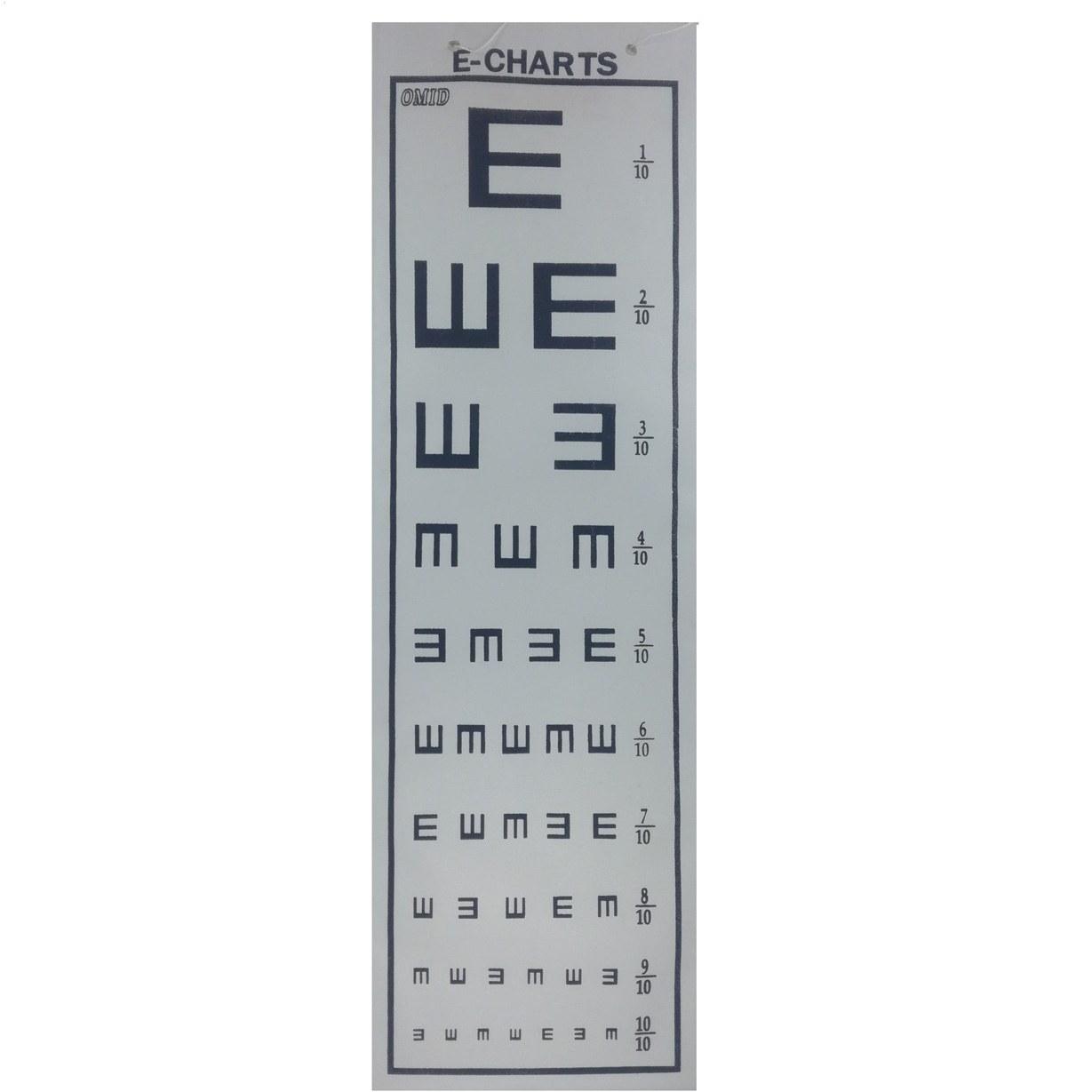 چارت بینایی امید مدل E-CHARTS |