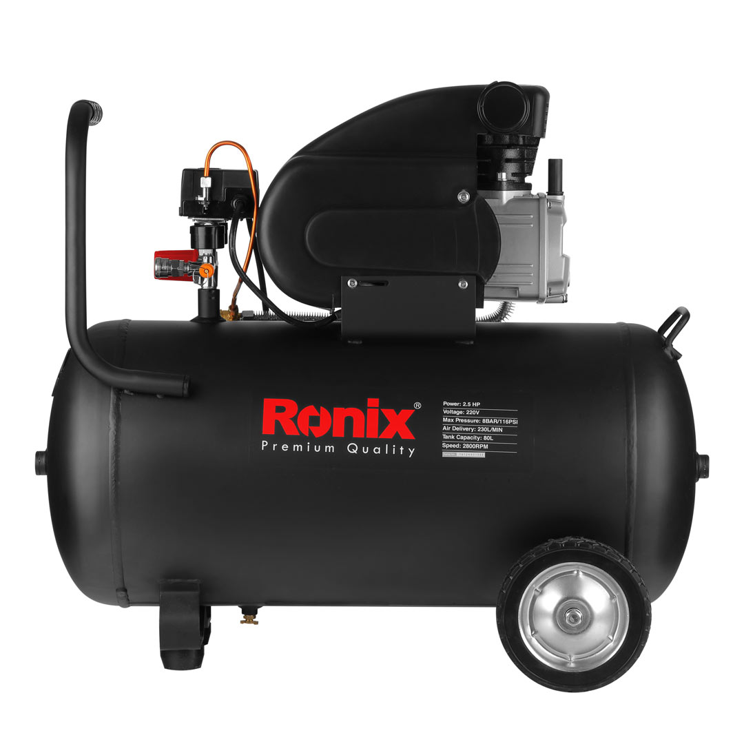 تصویر کمپرسور باد رونیکس 80 لیتری مدل RC-8010 Ronix AIR COMPRESSOR RC-8010