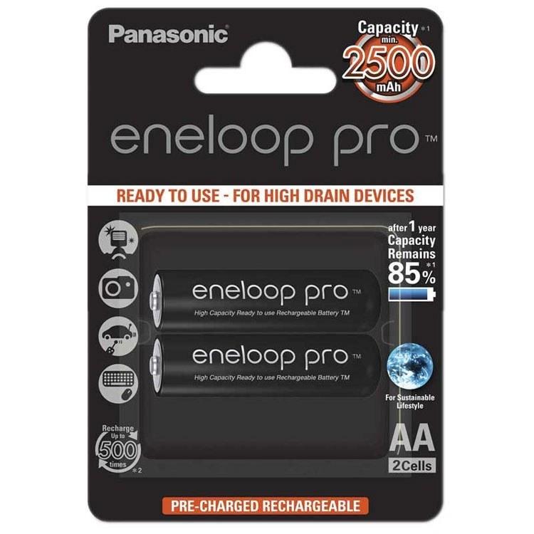 تصویر باتری قلمی شارژی پاناسونیک Panasonic AA Eneloop Pro Battery