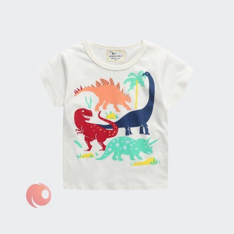 تصویر تیشرت پسرانه  مدل dinosaur