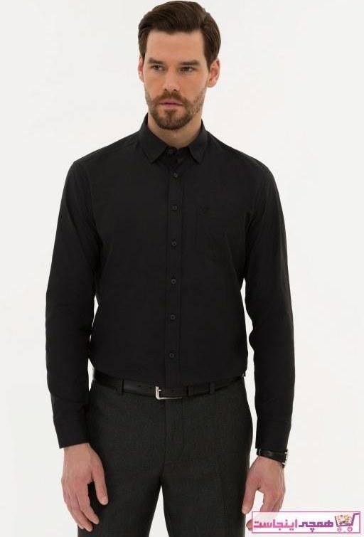 تصویر پیراهن مردانه مارک دار مارک پیرکاردین رنگ مشکی کد ty37209754