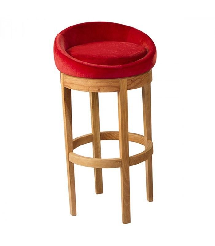 صندلي کانتر جهانتاب ایگلو با روکش چرم
