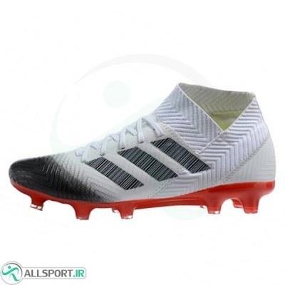 کفش فوتبال آدیداس نمزیز طرح اصلی سفید قرمز Adidas Nemeziz FG