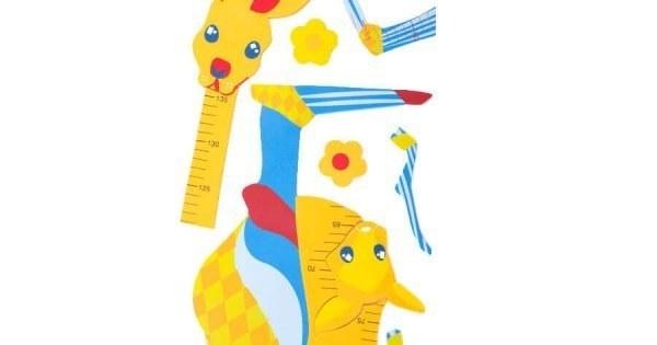 عکس استیکر چارت قد اتاق نوزاد طرح کانگورو  استیکر-چارت-قد-اتاق-نوزاد-طرح-کانگورو