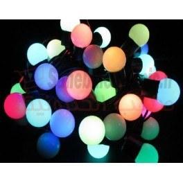 تصویر لامپ ریسه ای LED رنگی (توپی)