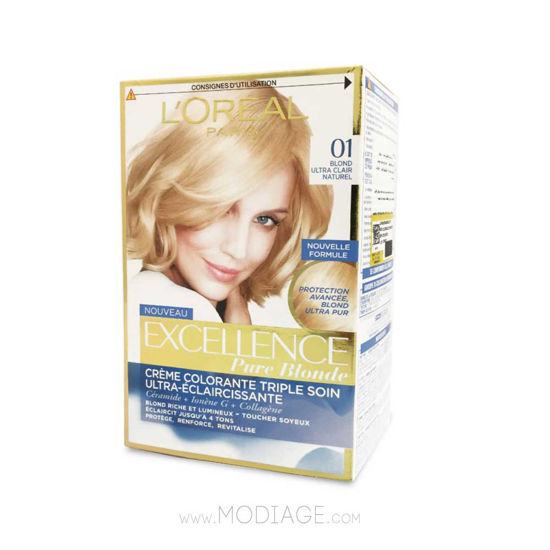 main images کیت رنگ مو لورآل EXCELLENCE Loreal Excellence Creme Hair Color Kit
