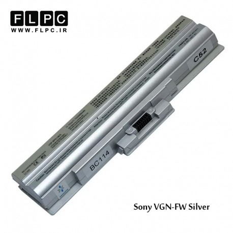 تصویر باطری لپ تاپ سونی Sony VGN-FW Laptop Battery _6cell نقره ای