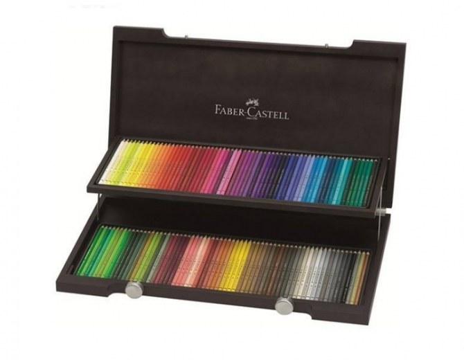 تصویر مداد رنگی 120 رنگ فابر کاستل مدل Polychromos