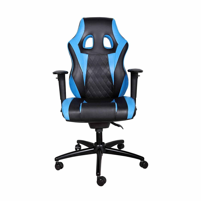 تصویر صندلی گیمینگ بامو آبی Gaming Chair Bamo Blue