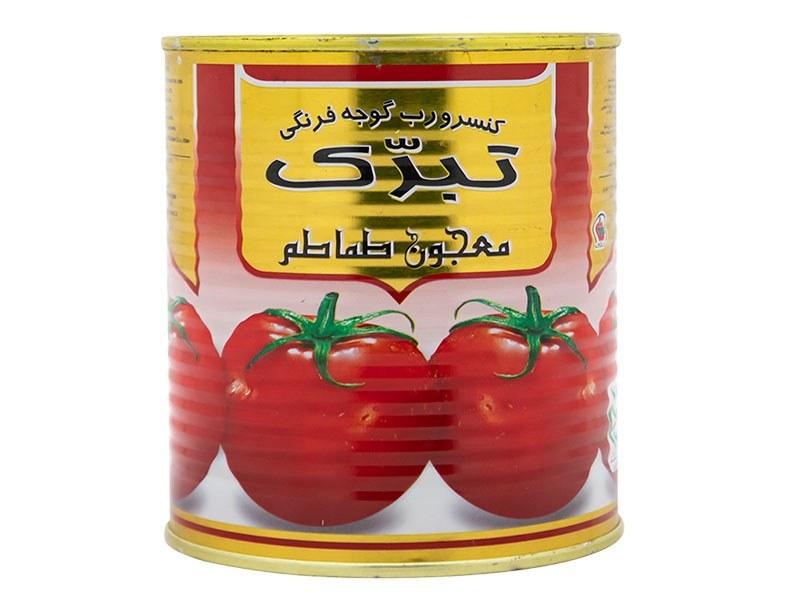 عکس رب گوجه فرنگی تبرک وزن 800 گرم  رب-گوجه-فرنگی-تبرک-وزن-800-گرم