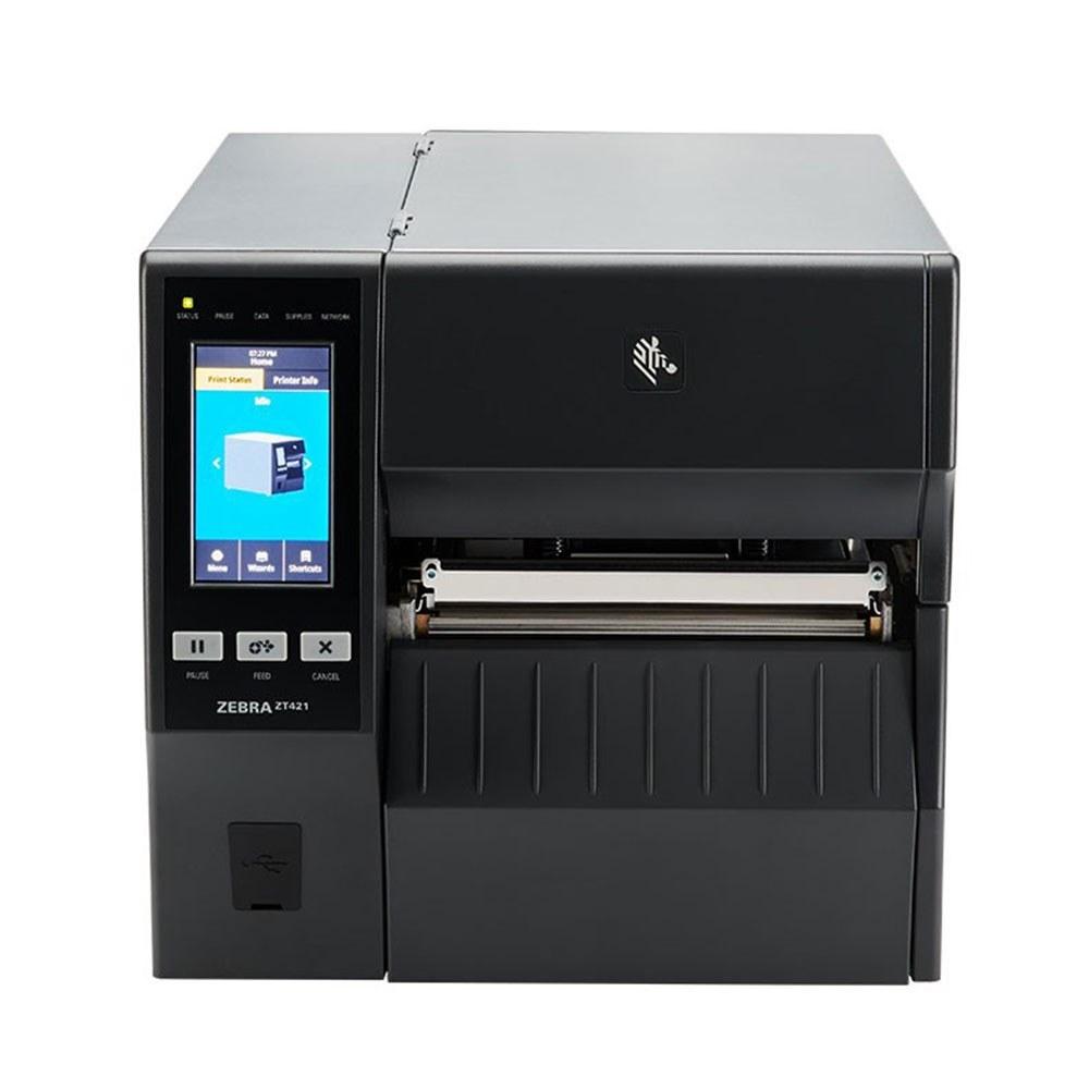 تصویر چاپگر لیبل و بارکد صنعتی Zebra ZT421 300dpi