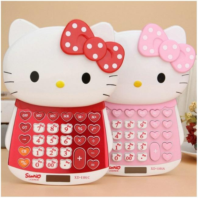 ماشین حساب فانتزی طرح هلوکیتی Hello Kitty XD-1101 Calculator | Hello Kitty XD-1101 Diamond Calculator