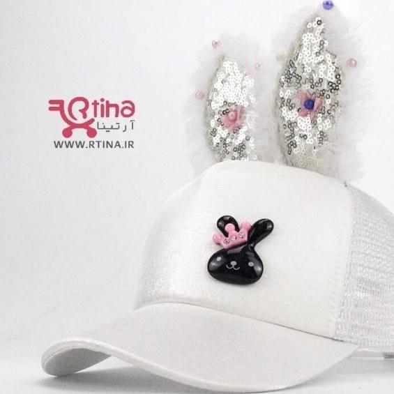 تصویر کلاه کپ بچه گانه دخترانه فانتزی و گوش دار