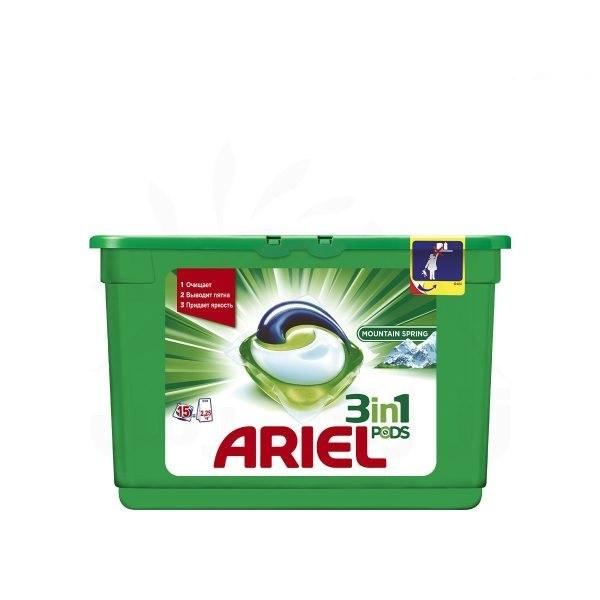 قرص ماشین لباسشویی آریل (Ariel) سه کاره مناسب لباس های رنگی 15 عددی
