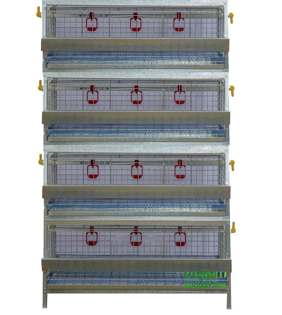 تصویر قفس بلدرچین ۴ طبقه
