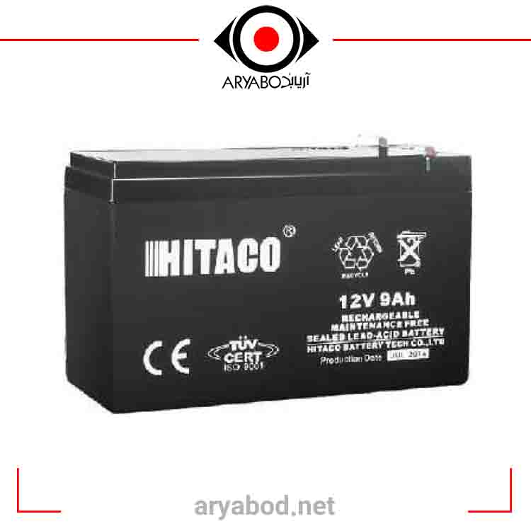 تصویر باتری 12ولت 12آمپر ساعت هیتاکو HITACO
