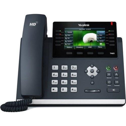 عکس تلفن تحت شبکه یالینک SIP T46S Yealink SIP T46S IP Phone تلفن-تحت-شبکه-یالینک-sip-t46s