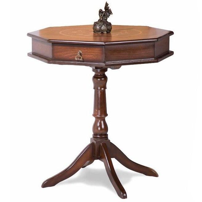 تصویر میز هشت گوش شطرنج معرق چوبی کد IGA-103