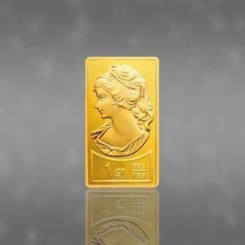 شمش طلای نقش برجسته ونوس 0.25 گرمی کارت فرکانسی