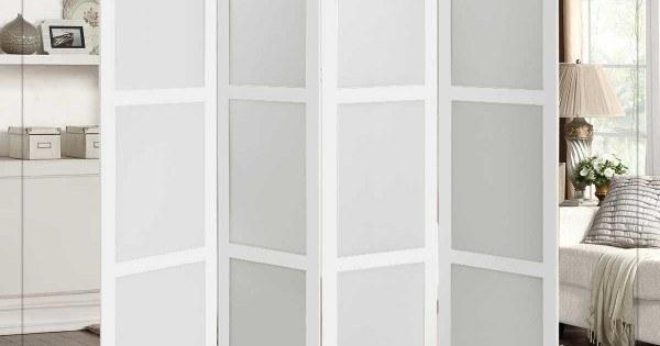 تصویر پاراوان مدل مدرن کاملا سفید