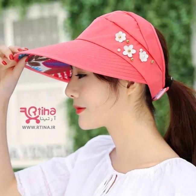 تصویر کلاه آفتاب گیر زنانه مدل تاشو (نقاب آفتابگیر)