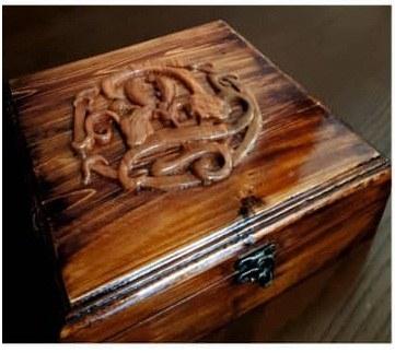 جعبه منبت و معرق تمام چوب کد ۰۲۵