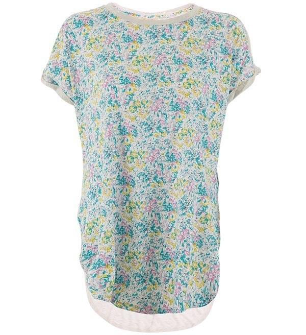 تی شرت گلدار زنانه جوتی جینز