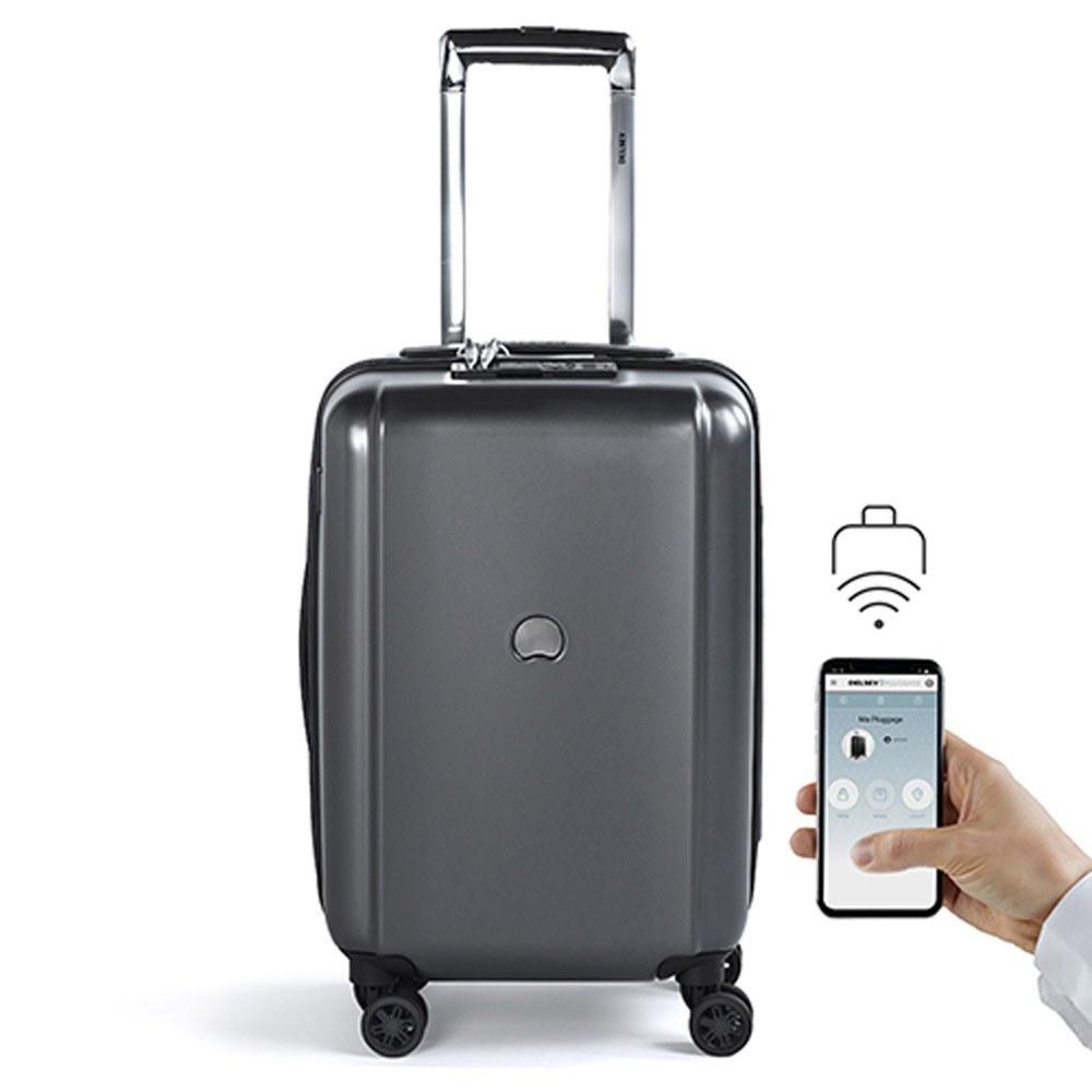 عکس چمدان دلسی مدل پلاگیج 55 سانتی متر ارتفاع و اولین چمدان هوشمند دلسی چمدان-دلسی-مدل-پلاگیج