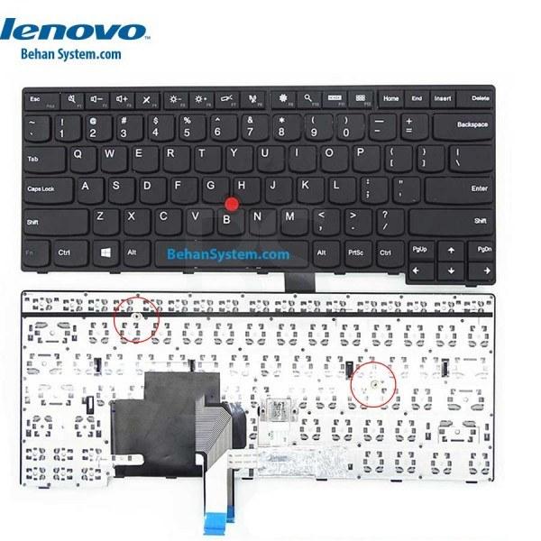 تصویر کیبورد لپ تاپ لنوو Thinkpad مدل E460 به همراه لیبل کیبورد فارسی جدا گانه
