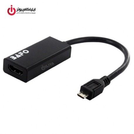 تصویر مبدل MHL تصویر Micro USB به HDMI بافو BF-H900 کیفیت 4K