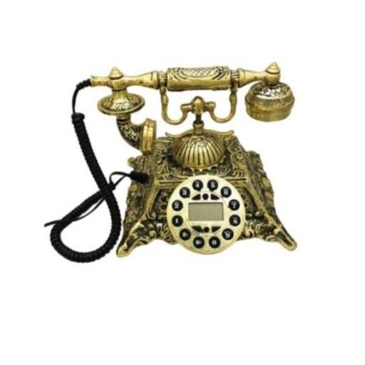 تصویر تلفن رومیزی طرح هرم تمام برنز