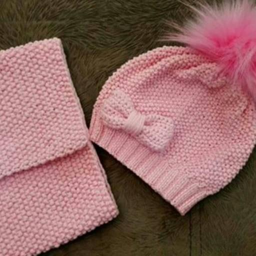 کلاه شال بافت کودک |