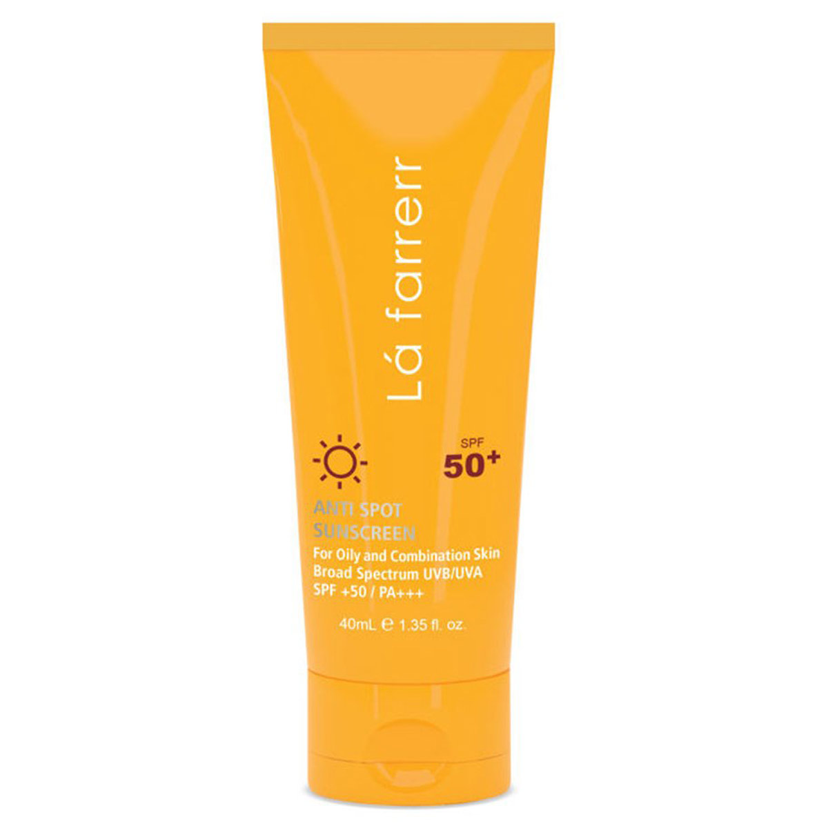 تصویر کرم ضد آفتاب و ضد لک لافارر مناسب پوست های چرب و مستعد آکنه با +SPF50 Lafarrerr Anti Spot Sunscreen Cream For Oily And Combination Skin SPF50+ 40ml