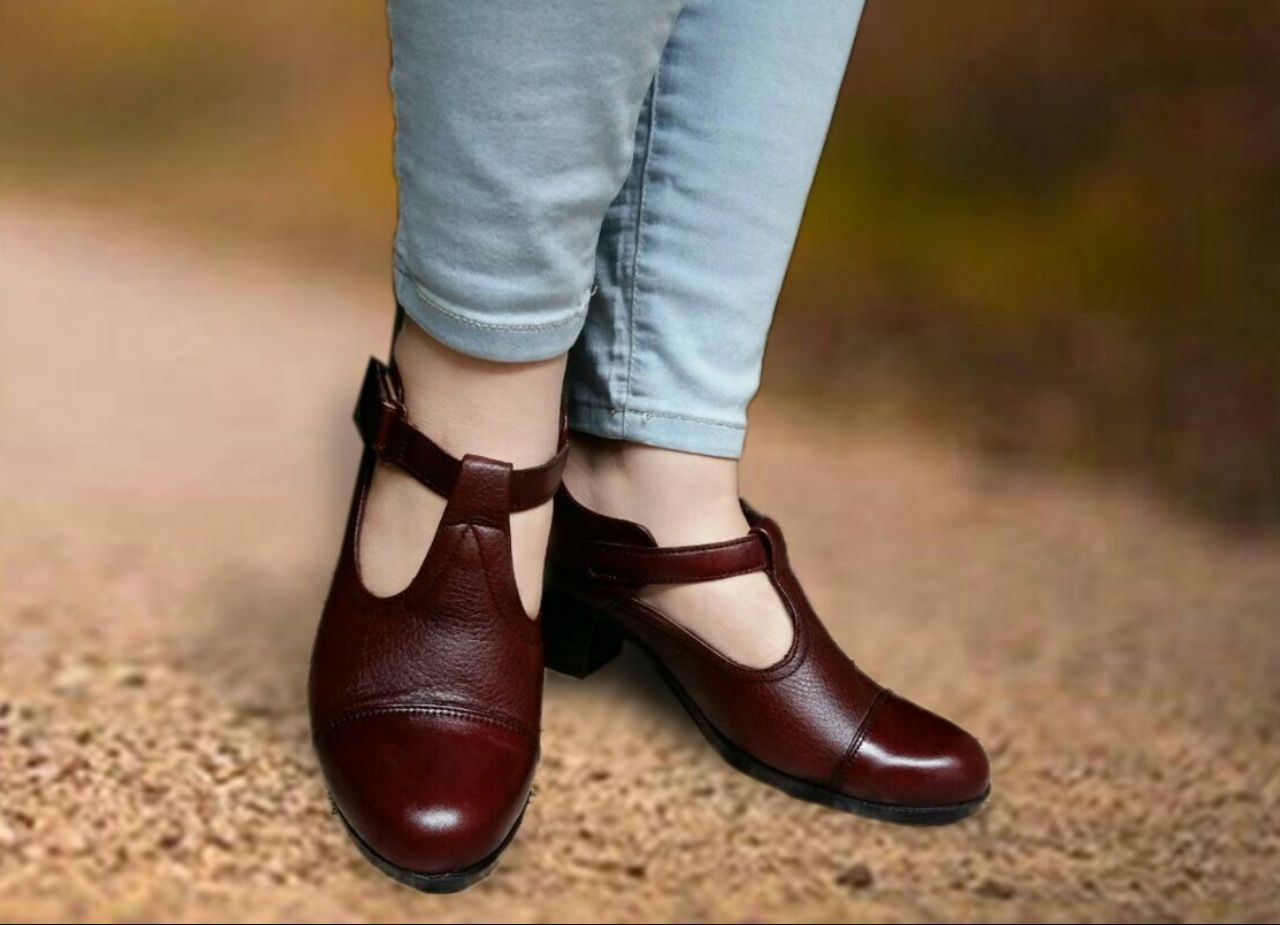 کفش چرم مجلسی زنانه