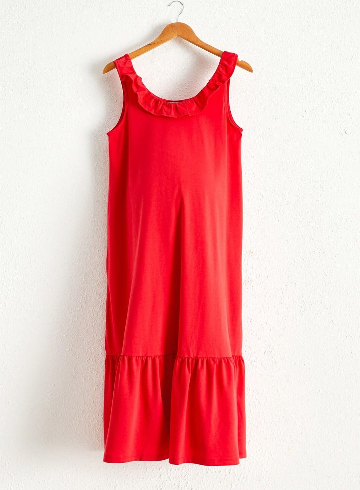 پیراهن زنانه قرمز برند LC Waikiki کد 1599540402