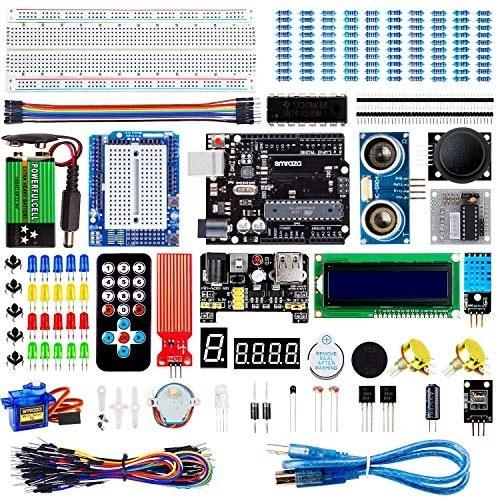 کیت استارت Super Smraza با Breadboard ، منبع تغذیه ، سیم های بلوز ، مقاومت ، LED ، LCD 1602 ، سنسورها ، آموزش تفصیلی پروژه ، سازگار با Arduino